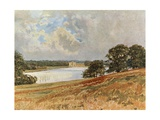 The Lake at Newstead Giclee Print by Francis S. Walker