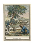 The Wolf Becomes Shepherd Giclee Print by  French School