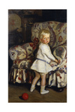 Young Boy in an Interior, 1913 Giclee Print by Harrington Mann