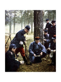 French Soldiers, Marne, September 1914 Giclee Print by Jules Gervais-Courtellemont