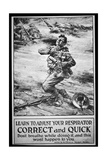 American Army Poster Warning of Gas Attack, 1918 Giclee Print by W. G. Thayer