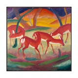 Red Deer 1, 1910 Giclee Print by Franz Marc