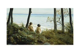 On the Beach, 1907 Giclee Print by Harald Slott-Moller