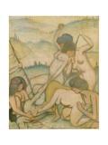The Slaying of Orpheus, 1914 Giclee Print by Felix Edouard Vallotton