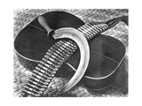 Mexican Revolution: Guitar, Sickle and Ammunition Belt, Mexico City, 1927 Photographic Print by Tina Modotti