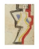 Sketch of a Woman, 1965 Giclee Print by Nina Ivanovna Shirokova