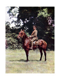 Horseman of the British Cavalry During the Battle of the Marne East of Paris, September 1914 Giclee Print by Jules Gervais-Courtellemont