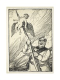 The Gentle German, Illustration from the Kaiser's Garland by Edmund J. Sullivan, Pub. 1916 Giclee Print by Edmund Joseph Sullivan