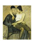 Seated Couple; Sitzendes Paar, c.1920 Giclée-Druck von Philipp Veit