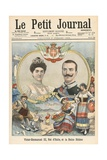 Victor-Emmanuel III of Italy and Queen Helene Giclee Print by  French School