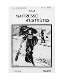 Front Cover Illustration of 'Maitresse d'Esthetes' by Willy (1859-1931) Publ. Albin Michel Giclee Print by Fernand Louis Gottlob