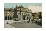 Milan - Piazza and Teatro Alla Scala. Postcard Sent in 1913 Giclee Print by  Italian Photographer