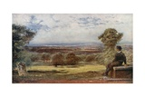Byron's 'Tomb' at Harrow, Where He Sat as a Boy Giclee Print by Francis S. Walker
