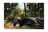 A French Army Storage Area in the Forest Near Verdun, September 1916 Giclee Print by Jules Gervais-Courtellemont