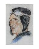 Portrait of Pilot Grigorii M., 1937 Giclee Print by Galina Konstantinovna Shubina