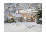 Farmhouse in the Snow, 2011 Giclee Print by Lucy Willis