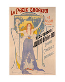 Poster Advertising the Reopening on 10 October of Le Petit Theatre, Boulevard Clichy, Paris, 1901 Giclee Print by Paul Balluriau