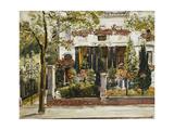 The Front Garden of the Steinbart Villa in Berlin; Der Vorgarten Der Steinbartschen Villa in… Giclee Print by Max Slevogt