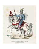 Equestrian Portrait of King Henry IV of France in 1596 Giclee Print by  French School