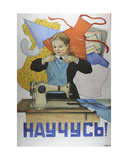 I Shall Learn It!, 1957 Giclee Print by Galina Konstantinovna Shubina