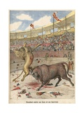 Battle Between a Lion and a Bull Giclee Print by  French School