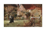 Milton's Cottage and Garden, Chalfont St Giles Giclee Print by Francis S. Walker