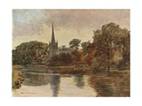 Trinity Church, Stratford on Avon Giclee Print by Francis S. Walker