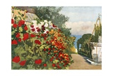 The Dahlia Border, Villa Hvidore Giclee Print by Mima Nixon