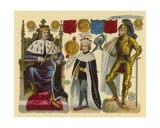 Victorian Scrap: King Edward IV, King Edward V, King Richard III Giclee Print by  English School