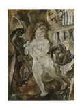 Susanna and the Elders; Susannah et Les Vieillards, c.1921 Gicleetryck av Jules Pascin