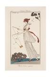 Georges Barbier - Dress in Printed Linen, Illustration from 'Journal des Dames et des Modes', 1913 - Giclee Baskı