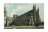 Northwest View of Winchester Cathedral. Postcard Sent in 1913 Giclee Print by  English Photographer