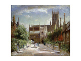 The Vicars' Close, Wells Cathedral, 1924 Giclee Print by Sir David Murray