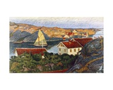 Market in a Coastal Place Giclee Print by Karl Fredrick Nordstrom