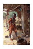 Columbus's Captain in the Carib Village Giclee Print by Charles Mills Sheldon