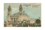 Congo Pavilion; Ghent; 1913. Postcard Sent in 1913 Giclee Print by  Belgian Photographer