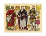 Victorian Scrap: King John, King Edward I, King Henry III Giclee Print by  English School