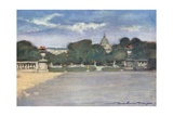 The Tuileries Gardens Giclee Print by Mortimer Ludington Menpes