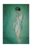 Bather in Profile, Effect of Green and Pink, 1918 Giclée-Druck von Félix Vallotton