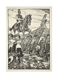 Ave Kaiser, Imperator Moriture, Mortui Te Salutamus, Illustration from the Kaiser's Garland by… Giclee Print by Edmund Joseph Sullivan