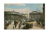 Bank of England, London. Postcard Sent in 1913 Giclee Print by  English Photographer