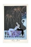 Fire, from 'Falbalas and Fanfreluches, Almanach des Modes Présentes, Passées et Futures', 1926 Giclee Print by Georges Barbier
