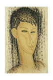 Head of a Young Women; Tete de Jeune Femme, 1914 Stampa giclée di Amedeo Modigliani