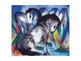 Two Horses, 1913 Reproduction procédé giclée par Franz Marc
