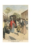 Fugitives from Ladysmith Giclee Print by  French School