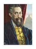 Michelangelo Buonarroti Giclee Print by Tancredi Scarpelli