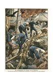 The Catastrophe of Sicily and Calabria Giclee Print by  French School