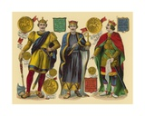 Victorian Scrap: King William I, King William II, King Henry I Giclee Print by  English School