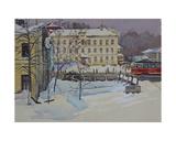 Moscow Street with Tram, Perunovski Pereulok, 1968 Giclee Print by Galina Konstantinovna Shubina