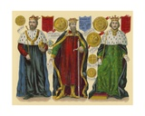 Victorian Scrap: King Edward II, King Edward III, King Richard II Giclee Print by  English School